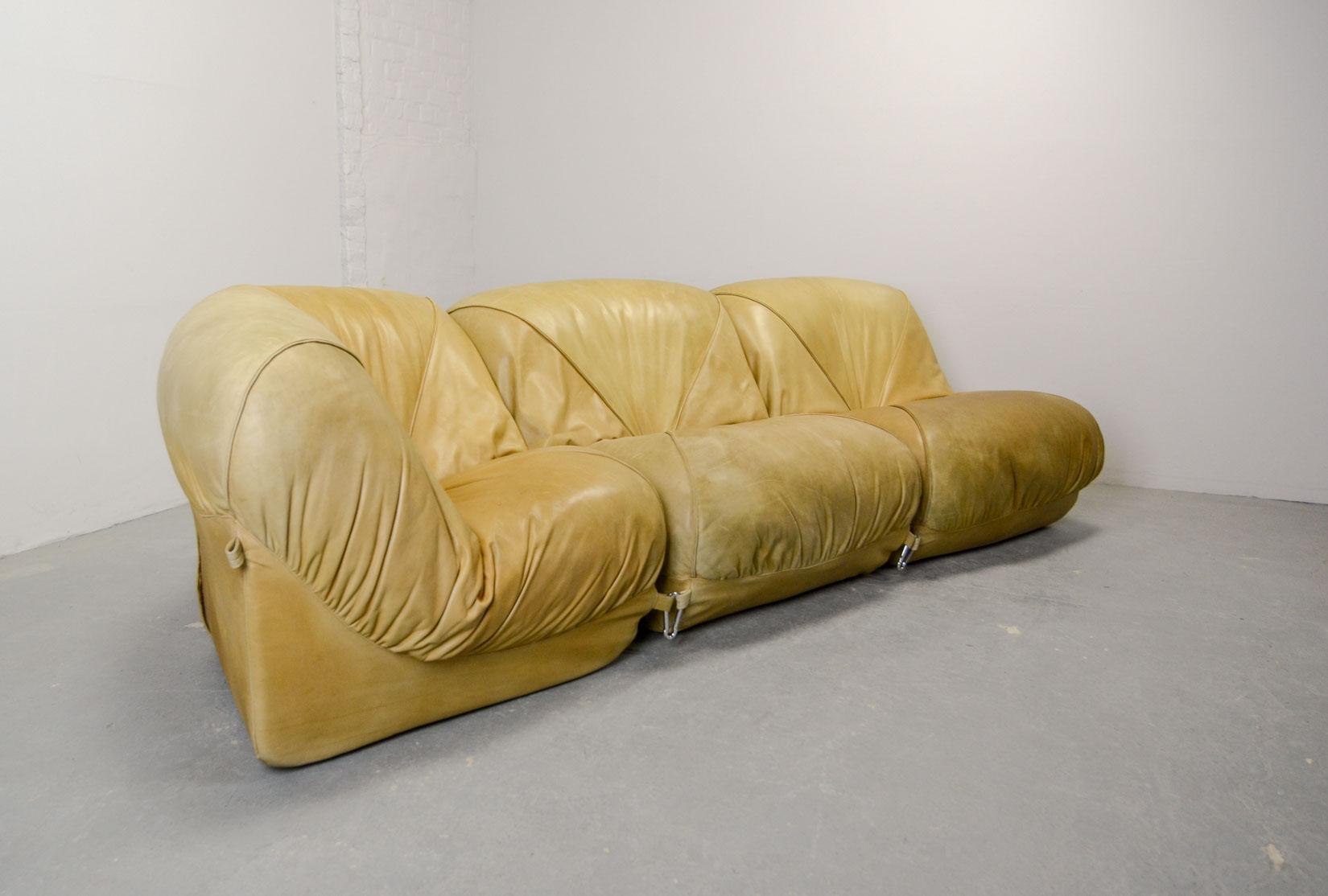 Modular Soft Leather Sofa Patate